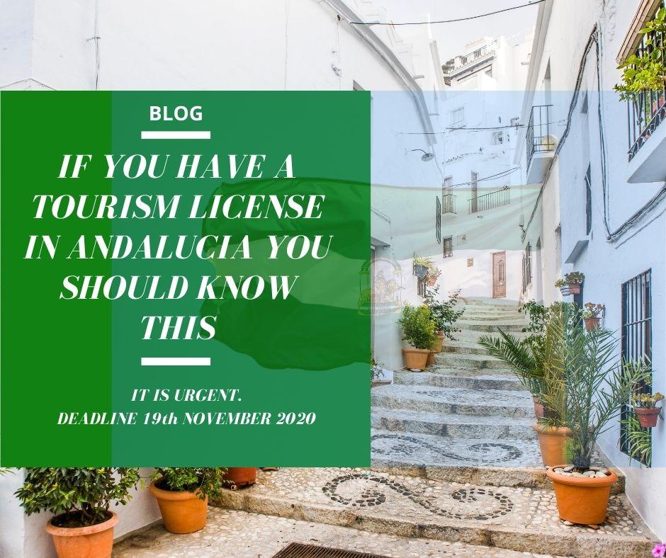TOURIST LICENSE ANDALUCIA VAT VAR