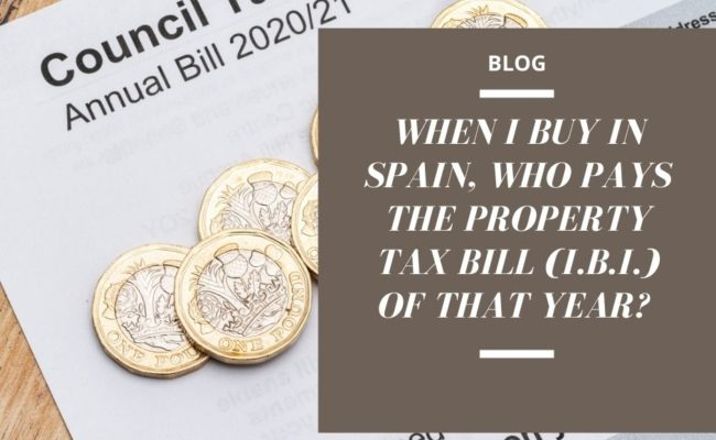 PROPERTY TAX BILL SPAIN IBI
