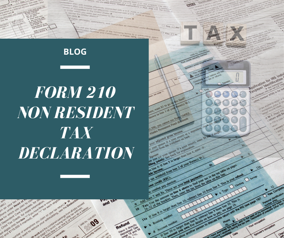 210 TAX FORM NON RESIDENT TAX TAXES